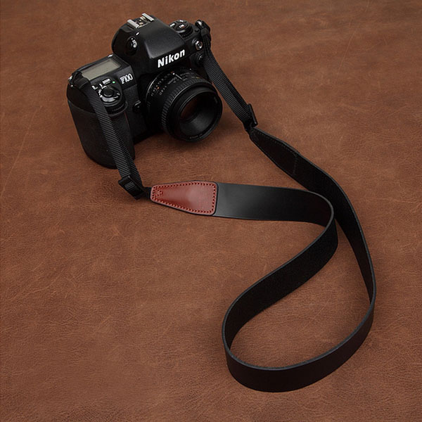 Wholesale genuine leather SLR camera black straps