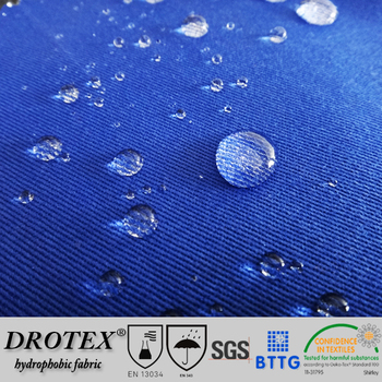 T/C 245gsm 2/1 twill Teflon treated oil resistant water repellent hydrophobic fabric