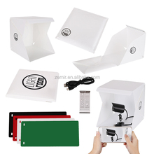 Folding Portable foldable LED mini photo studio kits Photography Studio for mobile and camera with 3 different sizes