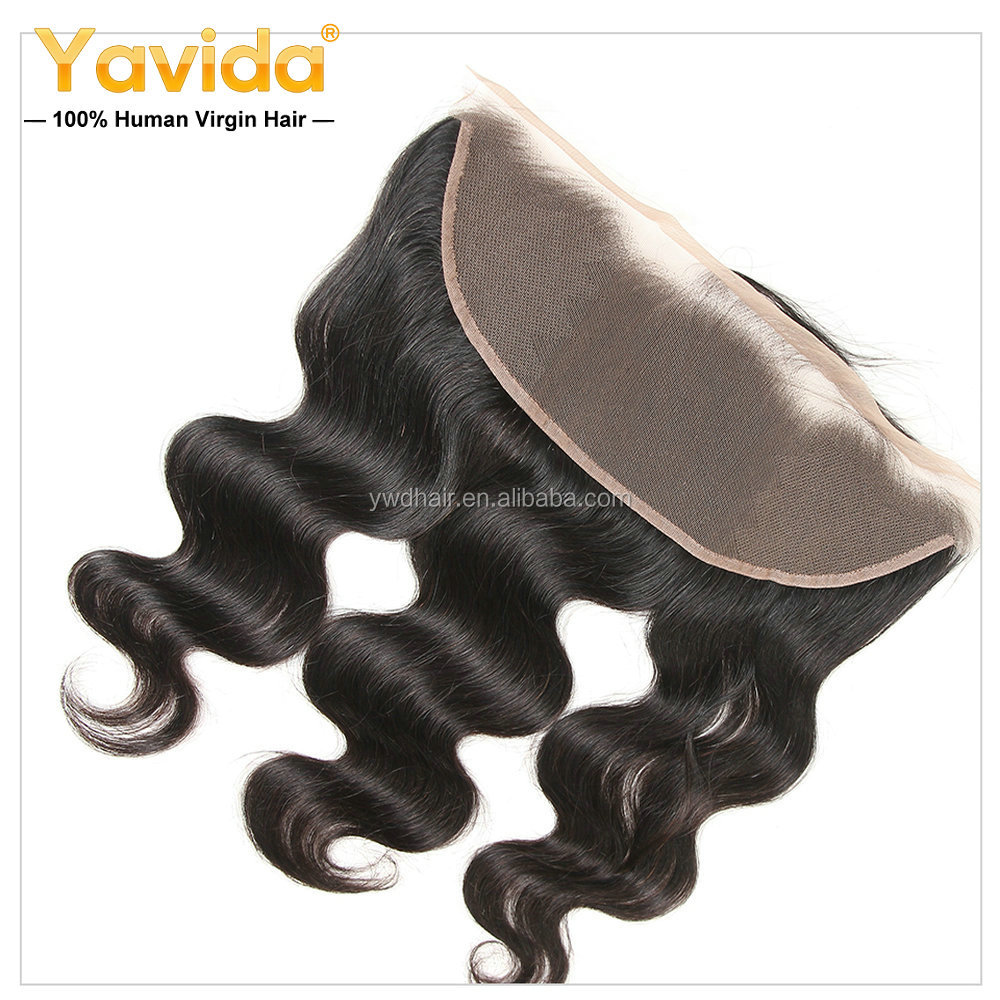 Peruvian Body Wave Pre Plucked Lace Frontal Closure 100% Human Hair Bundles 13*4 Inch Swiss Lace Closures 8-20inch