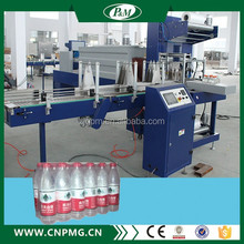 Automatic PE film shrink wrapping packing machine for plastic bottles