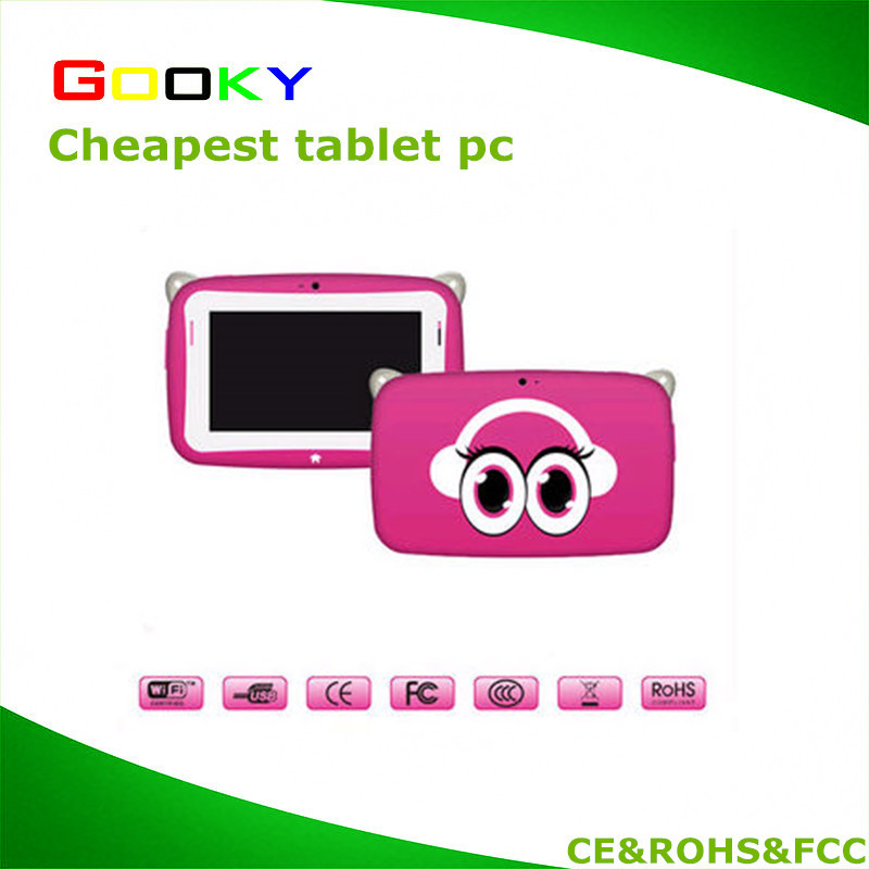 Baby girl's cute pink children kid tablet with keyboard case pink OTG