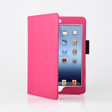 hot product leather stand case for table case cover for ipad mini case