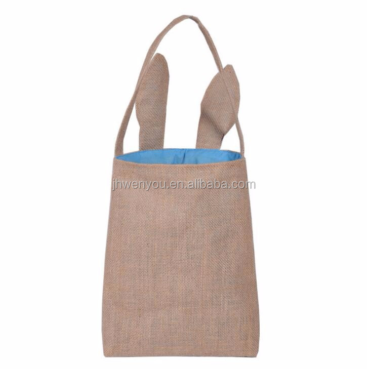 12*10inch Burlap Basket Storage Jute Basket with handle Wholesale Custom burlap Easter basket