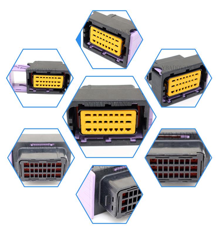 24 Pin Female FCI Sicma ECU Tuningbox Connector 211 PC249S0005 211PC249S0005