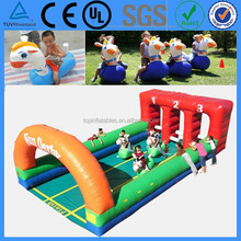 Interactive Outdoor Inflatable Horse Race Game/Derby Hoppers Playground