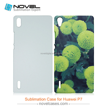 New 3D Sublimation Plastic Phone Case for Huawei P7, sublimation blank phone case, cell phone cases