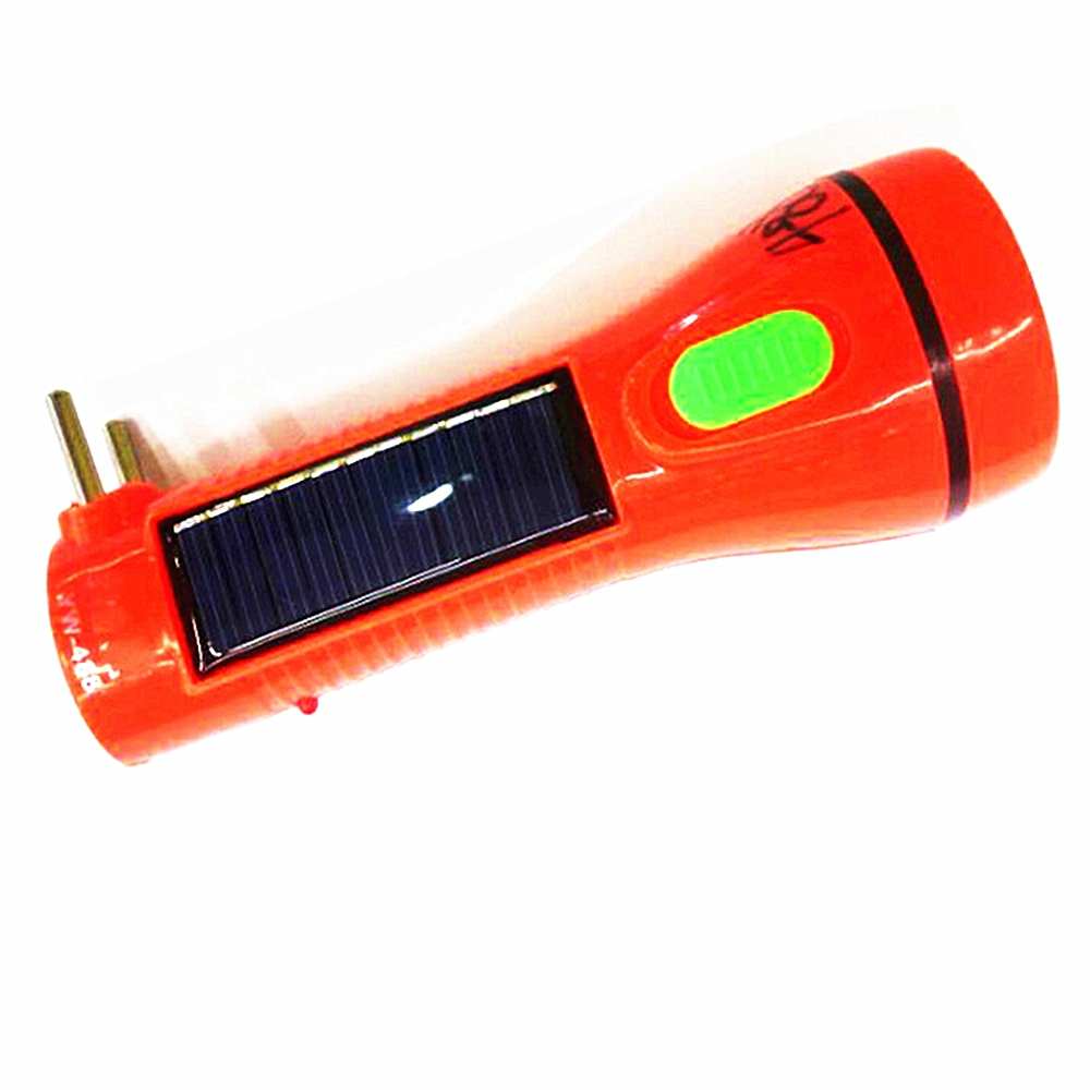 GG-488 Solar Rechargeable led Plastic Flashlight rechargeable torch flashlight