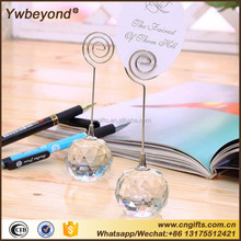Ywbeyond Romatic Crystal Ball Clip Photo Holder Place Card Holders wedding table centerpieces