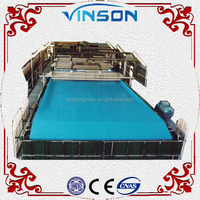 High quality vacuum belt filter press for containing fluorine lime