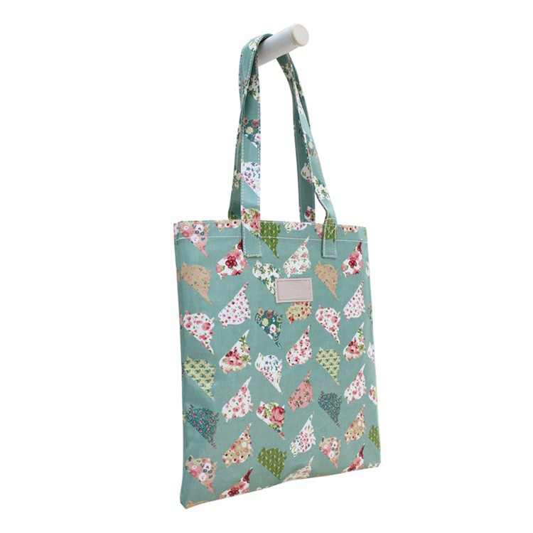 TT0027 Reshine High Quality New Printing Canvas Oil Cloth Tote Bags Wholesale Waterproof PVC Coated Shopping Bag