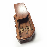 Natural creative hot carved wooden cigarette lighter case,carved wooden cigarette case