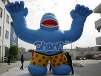 inflatable cartoon for adverting, giant inflatable monkey