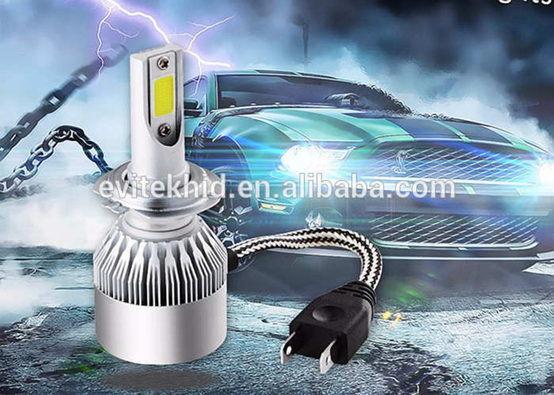 Car LED headlight 36W 3800LM 6000K h7 H1 H3 H8 H11 9005 9006 9012 c6 led headlight