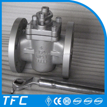 API 6D non lubricated stainless steel plug valve