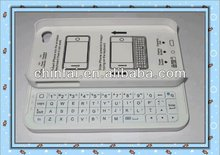 Top grade slide out keyboard with wireless bluetooth for Iphone 5S/5C/5G