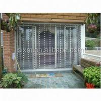 European style aluminum balcony electric roller shutter door