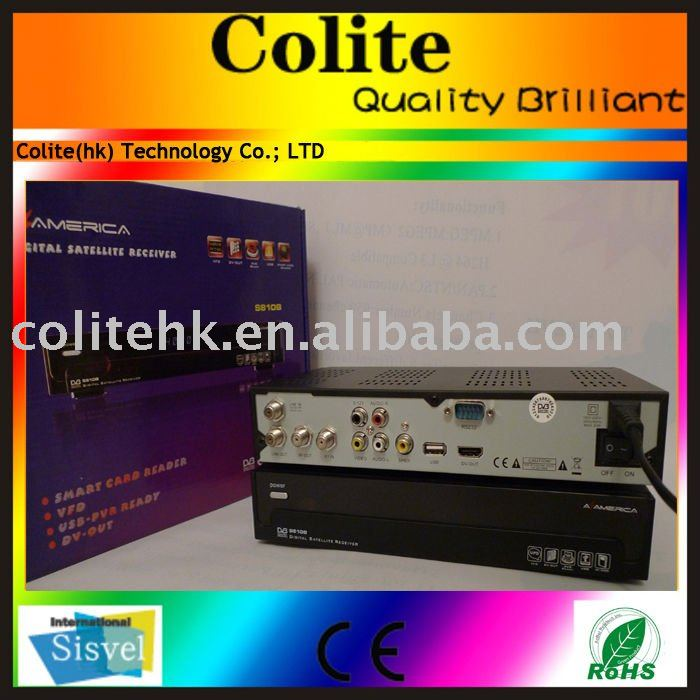 satellite receiver azamerica s810b decorder, hd dvb-s2 satellite receiver azamerica s810b