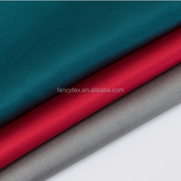polyester plain shiny dull spandex satin for party dress bridal 50*75d /75*100d satin fabric