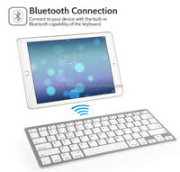 Ultra Flat Wireless Bluetooth Keyboard For All iOS, iPad,Mac,Android Tablet & Windows Computer