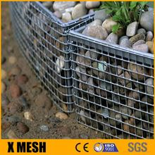 welded wire gabion baskets and Gabion Mattresses with stone for Rockfall and soil erosion protection