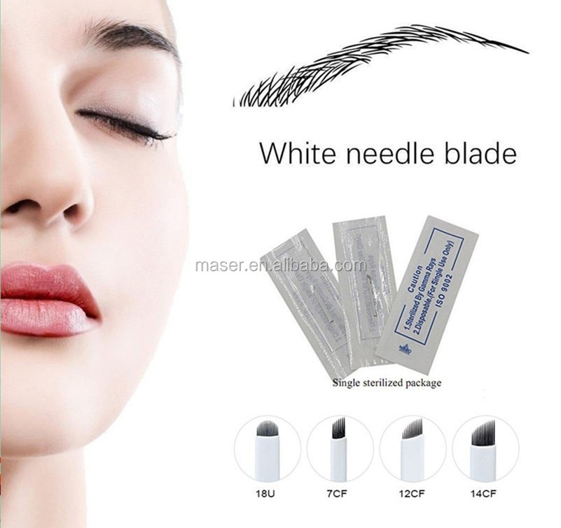 Wholesale Price 3d Embroidery Microblading Needle, Korea Popular Flexible Microblading Blades Permanent Makeup Needle