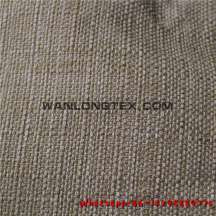 Polyester linen look like upholstery fabric for sofas