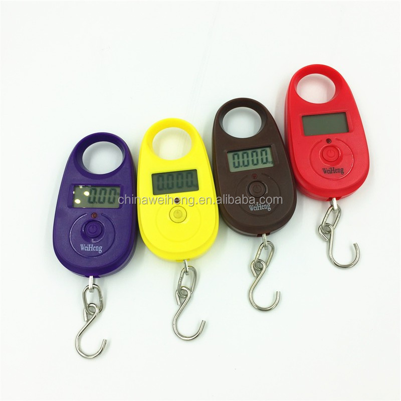 Mini portable digital 25kg/5g hanging luggage scale for gift