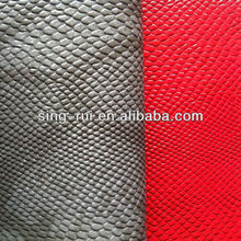 Embossed animal skin pu synthetic leather