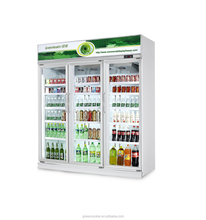 Hot new glass door 3 door commercial refrigerator