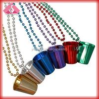 Fashion plastic shot glass bead necklace QXNK150653