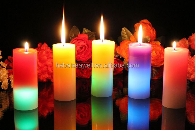 Different type decorative color candle wax