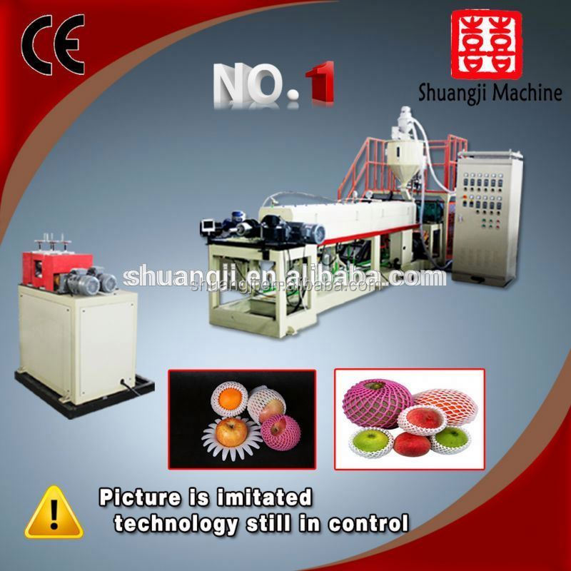 Hot Automatic Vacuum PE foaming fruit net extruding machine