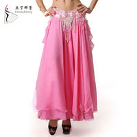Ballroom Silk Chiffon Fabric Belly Dance Arabic Sexy Dance Long Skirts