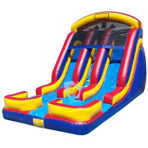 outdoor fun big inflatable water slip and slide for sale