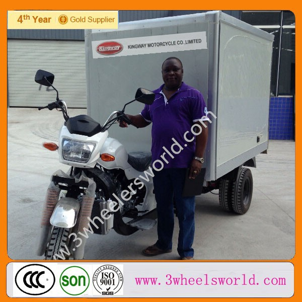 China supplier cargo tricycle with closed box for sale in philippines