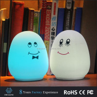 hand patting egg shaped night light outdoor led sensor light