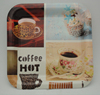 Plastic coffee decor charger colored plastic tray,hard plastic plates,melamine tray