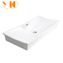 Hot sale white porcelain flat bathroom sink