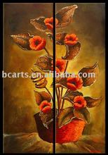 BCP10-0577 2016 Hot selling Decorative Framed canvas flower oil painting