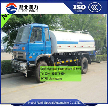 Right hand drive Dongfengwater bowser truck