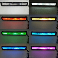 22inch 120w multicolor 5D rgb led light bar purple/red/green/blue/yellow/white flash for Offroad 4WD