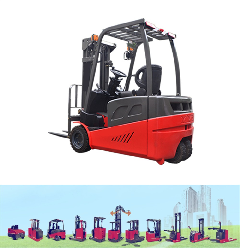 3 Wheels Driven Mini Forklift 1.5Ton Electric Forklift Trucks with Battery