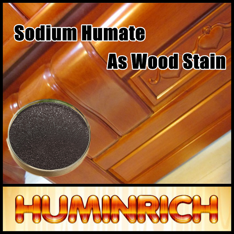 Huminrich Soluble Black Shiny Powder Humic Acid Wood Walnut Stain