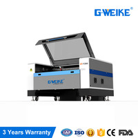 G.weike newest LC1390N CO2 laser cutting machine machines for making leather shoes