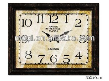 London Decorative Rectangular Shape Wall Clock