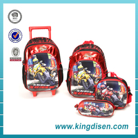2016 New style boys book bags with trolley for children