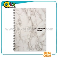 2016 high quality marble spiral notebook