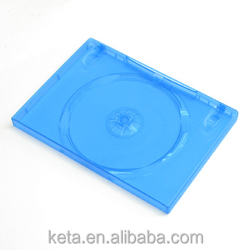 14mm Single Disk Plastic Blue Cover Long DVD case