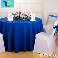 Wholesale cheap price custom restaurant table linen luxury round wedding table cloth cover